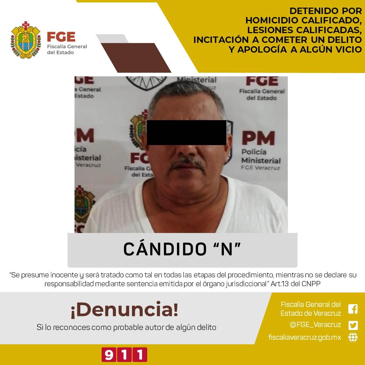 Detiene Policía Ministerial a Candido Canseco líder de Tamsa por probable homicida