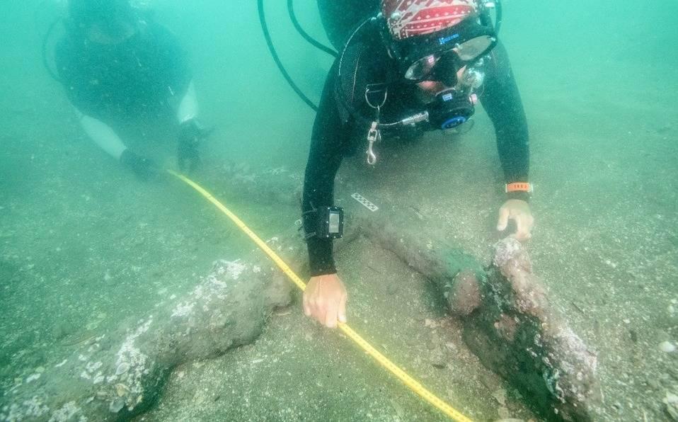 Encuentran anclas de los barcos de Hernán Cortés.