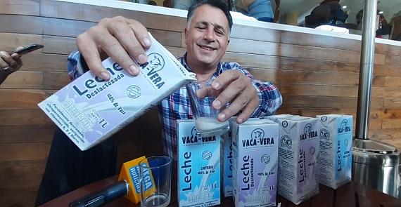 """Pequeños productores lanzan leche """"Vaca Vera"""" sin apoyo gubernamental"""