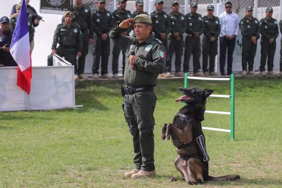 """Con honores se retira """"Gadafi"""" perro policía en  Veracruz."""