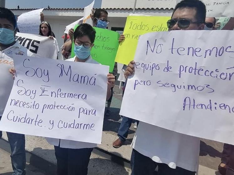 Médicos del Hospital de Tarimoya se manifestaron.