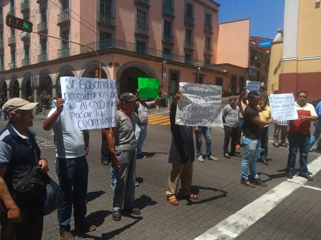 Vendedores y boleros del parque Juárez y exigen saber si van a cerrar o no por Covid-19