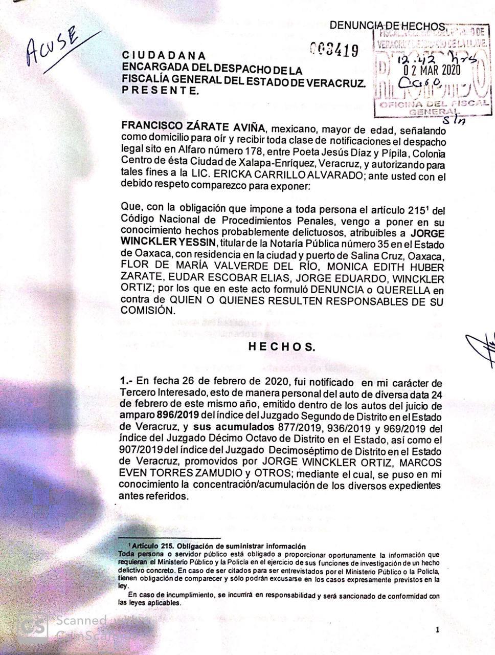 Denuncia exjefe de escoltas de Culín a papá de Winckler