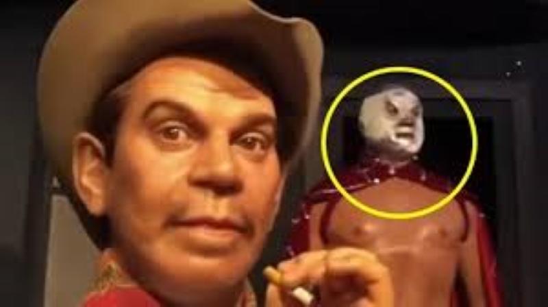 """Captan en Museo de cera a """"El Santo"""" moviendo los ojos"""