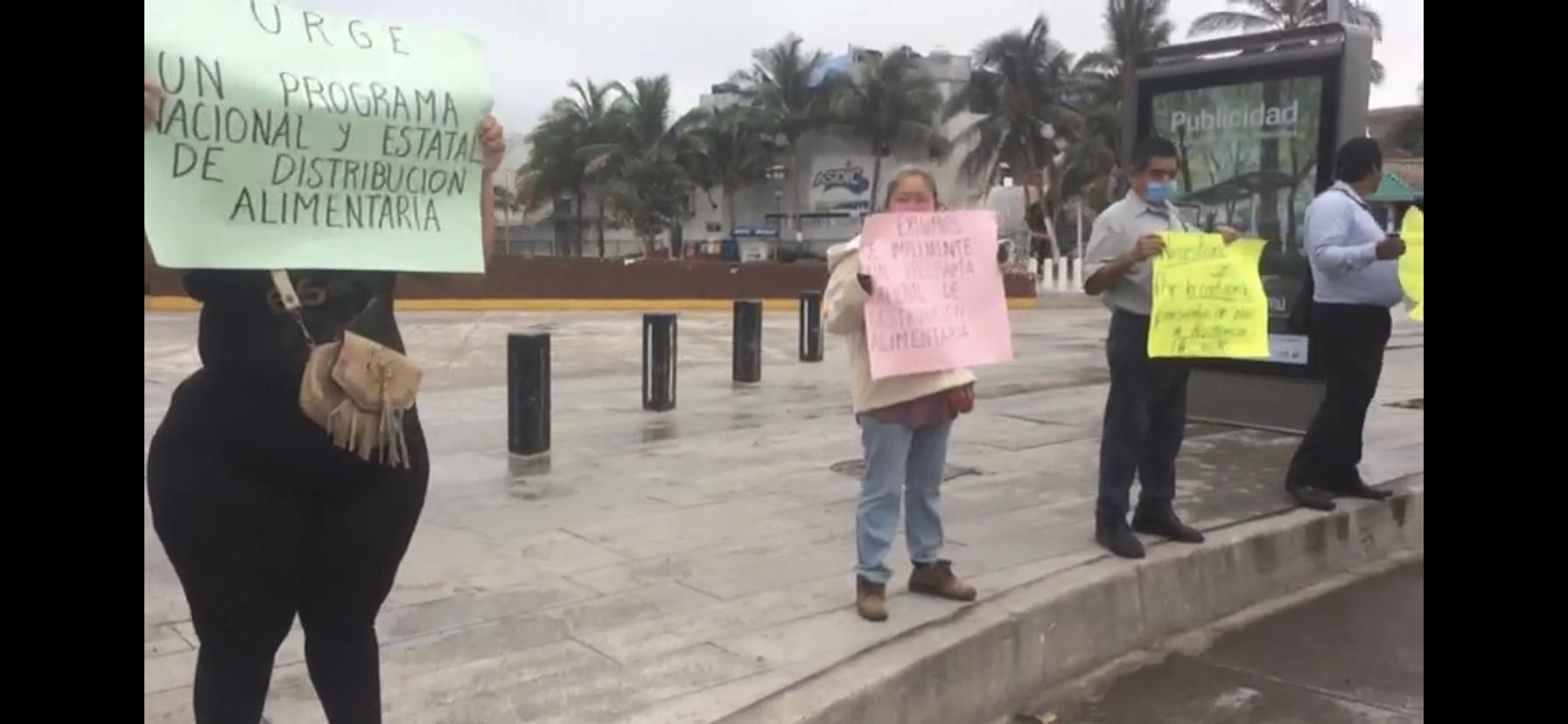 Manifestación de antorchistas para exigir apoyos al Gobierno Federal y Estatal.