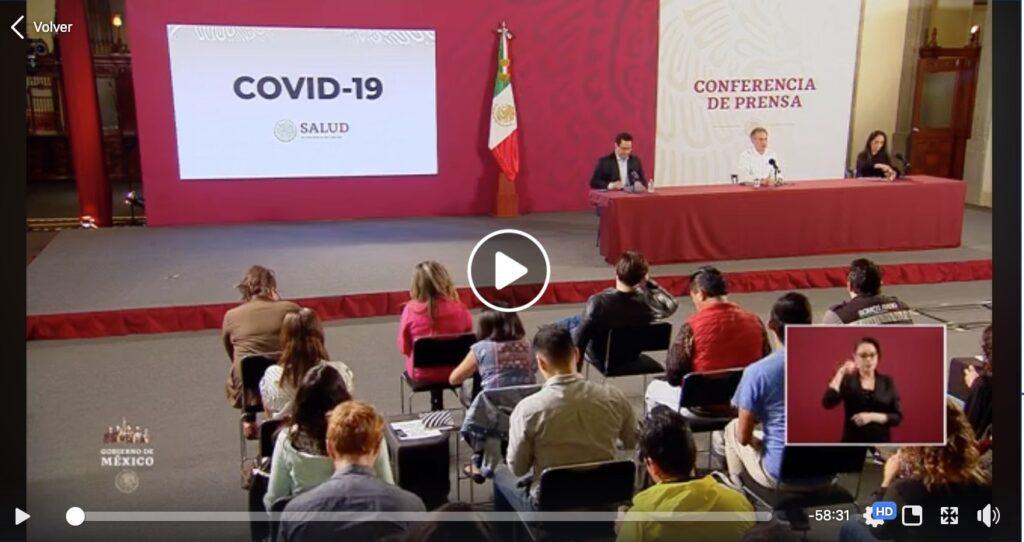 #ConferenciaDePrensa: #Coronavirus #COVID19 #QuédateEnCasaYa   3 de abril de 2020