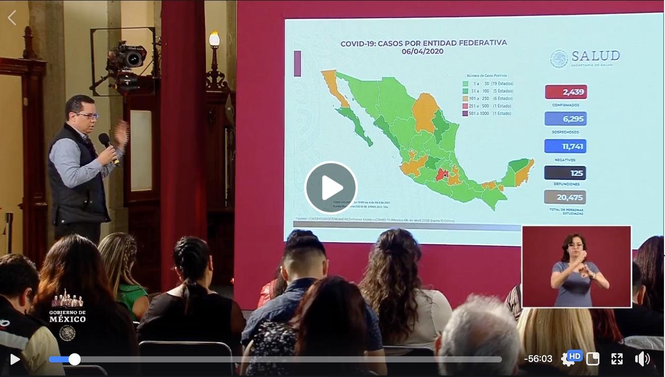 #ConferenciaDePrensa: #Coronavirus #COVID19 #QuédateEnCasa   6 de abril de 2020