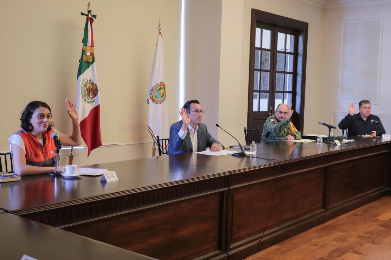 Presenta Cuitláhuac García Plan Operativo para Temporada de Lluvias y Ciclones Tropicales