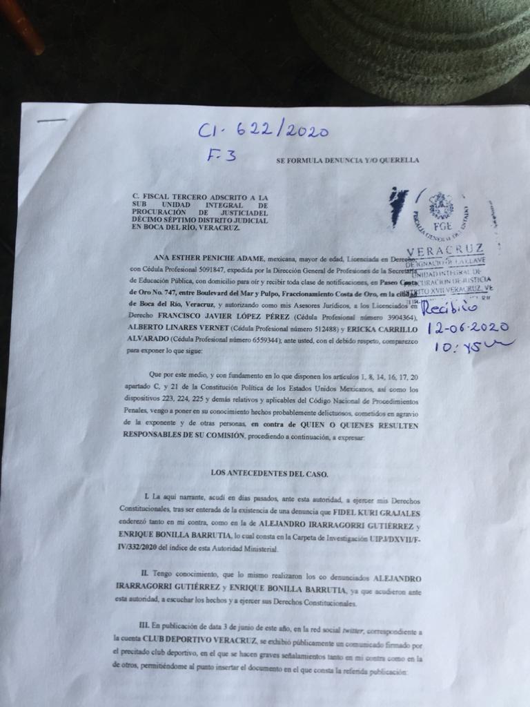 Denuncia penalmente Federación de Fútbol a Fidel Kuri
