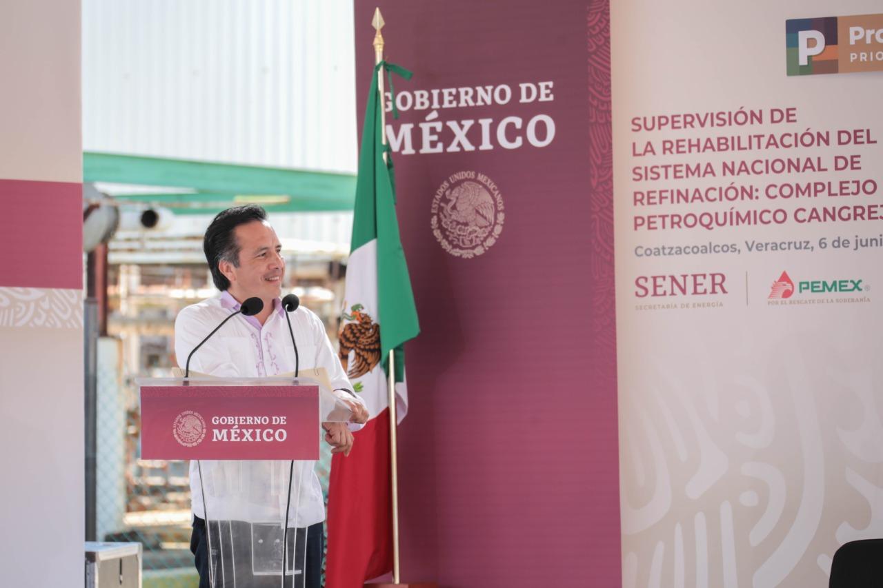 Los primeros pasos del rescate al sector energético nacional, en Coatzacoalcos y Minatitlán: gobernador