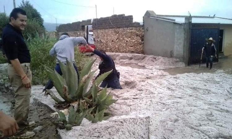 Tromba en Puebla deja 120 casas dañadas al menos