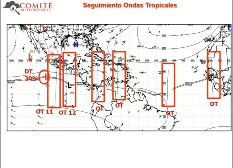 """""""Tren"""" de ondas tropicales podría influenciar desarrollo de lluvias típicas de la temporada: SPC"""