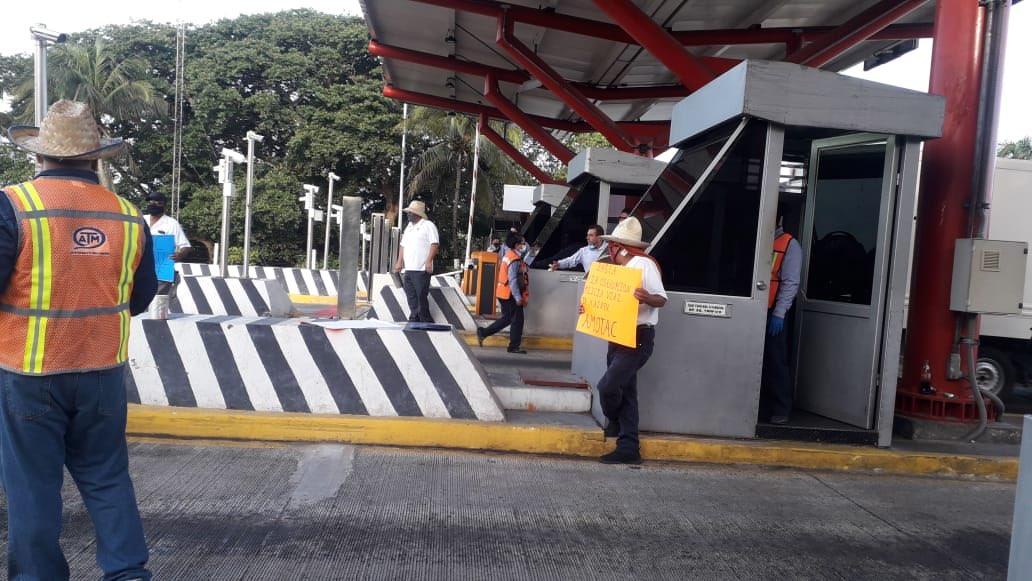 Integrantes de Amotac exigen retirar la caseta de La Antigua.