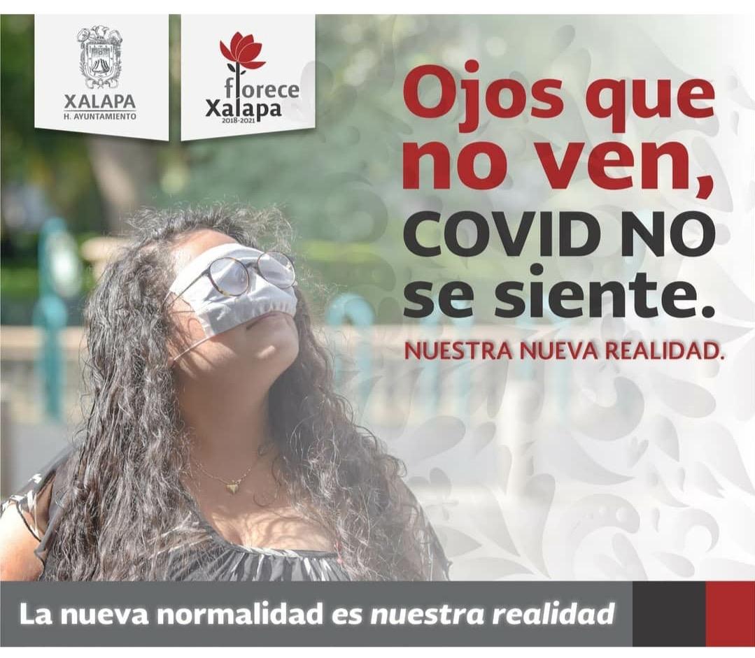 Impulsa ayuntamiento de Xalapa confusa campaña contra el Covid-19
