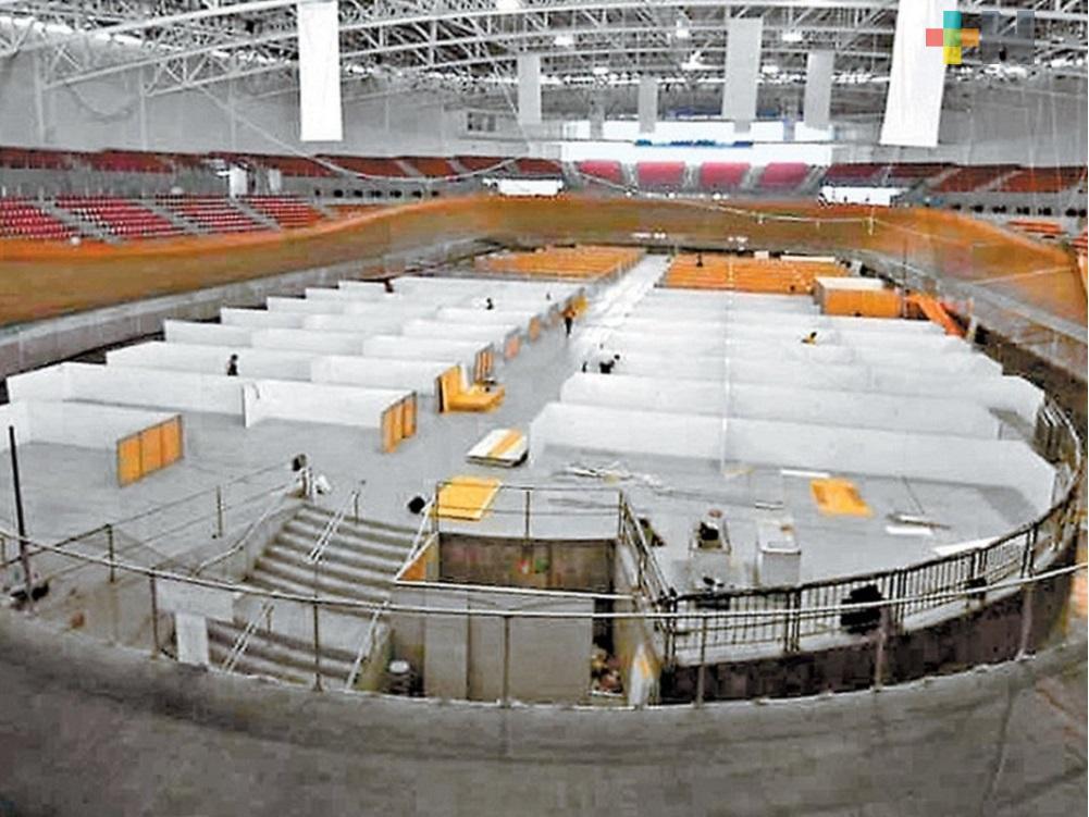 Inicia traslado de enfermos de Covid a las Instalaciones del Velódromo de Xalapa