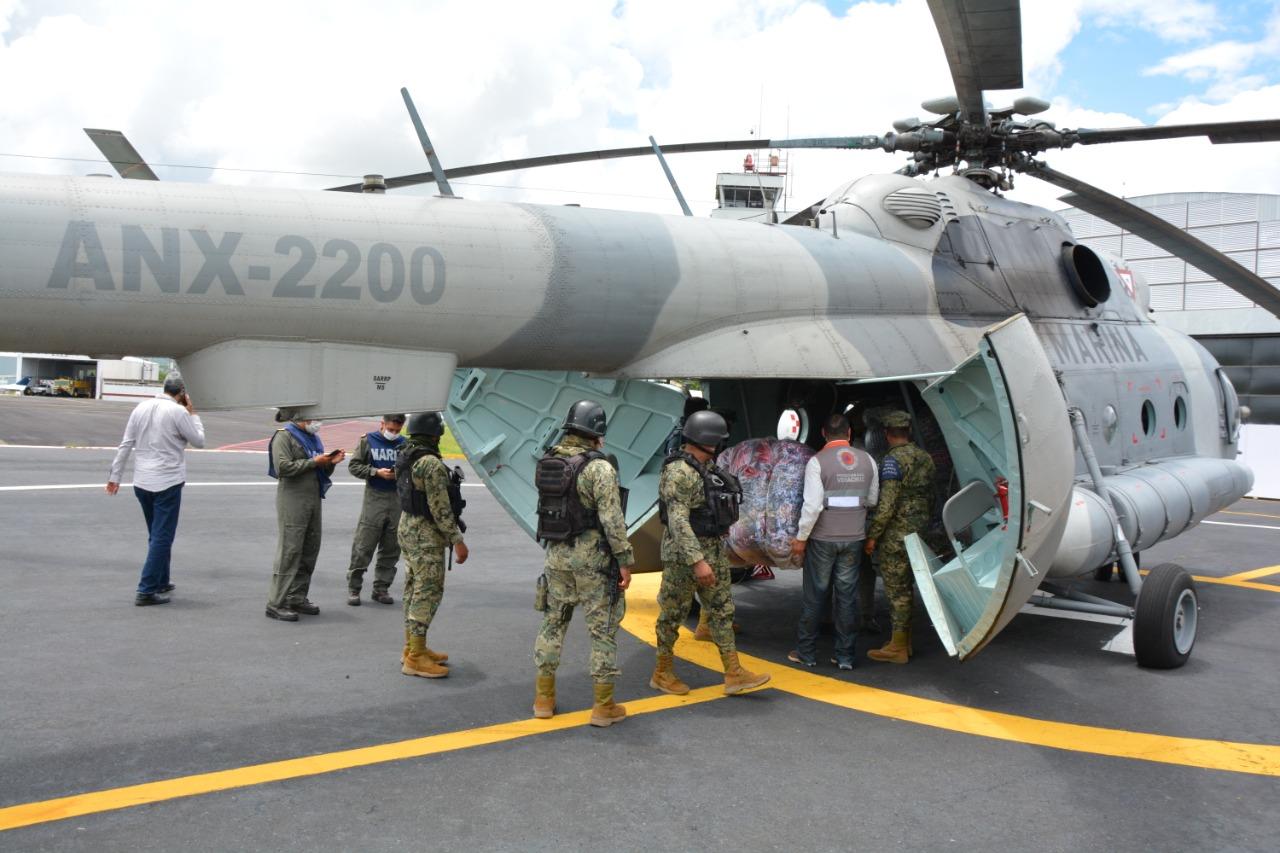 Entrega Gobierno del Estado 3 toneladas de apoyo humanitario al Totonacapan