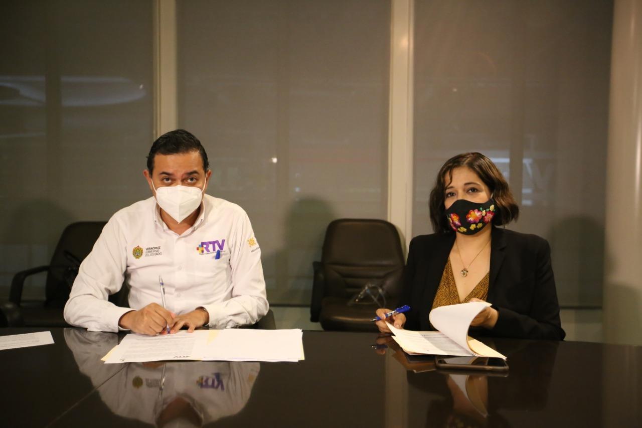 Signan acuerdo IVAI y Radiotelevisión de Veracruz