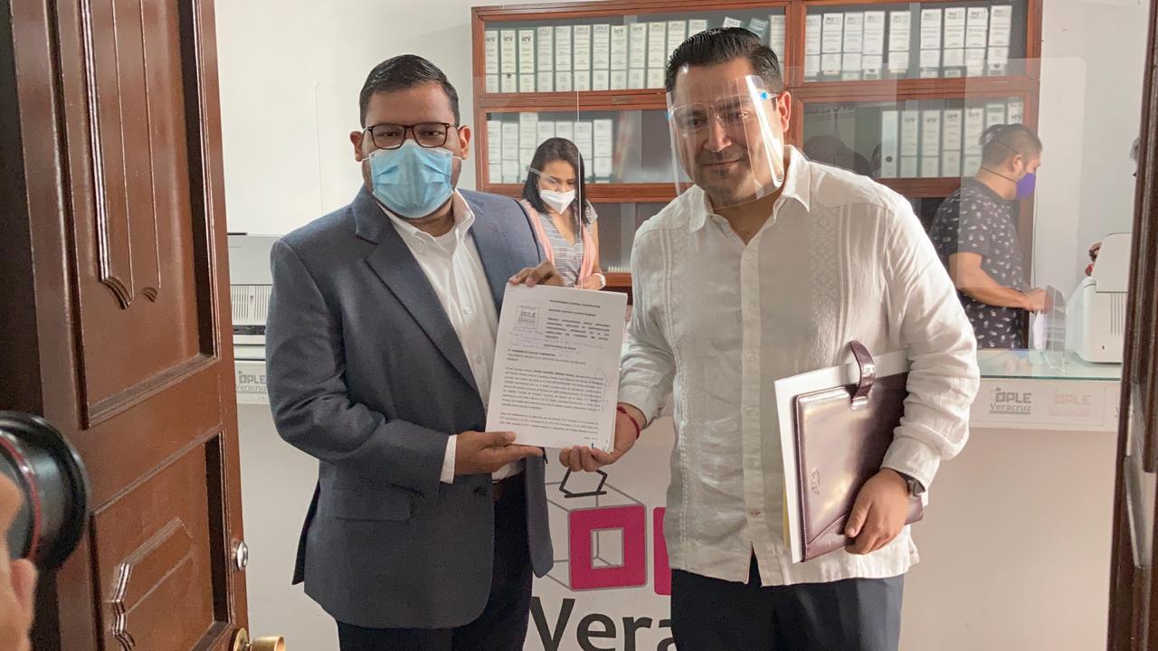 Morena Veracruz interpone queja contra Sergio Hernández por actos anticipados de campaña