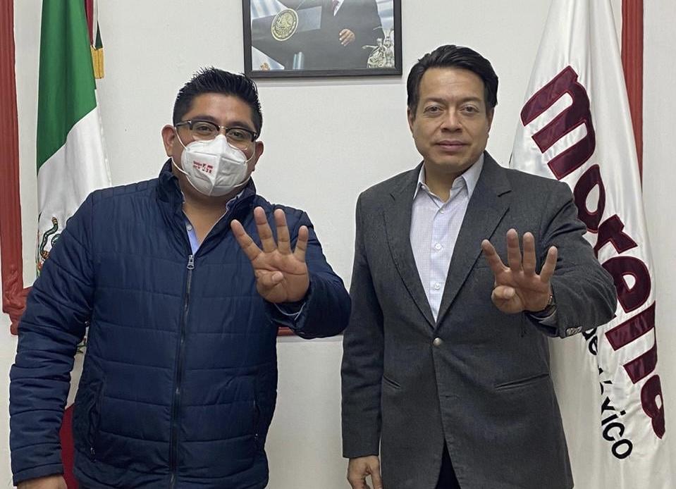 Esteban Ramírez Zepeta se reúne con Mario Delgado, dirigente nacional de Morena