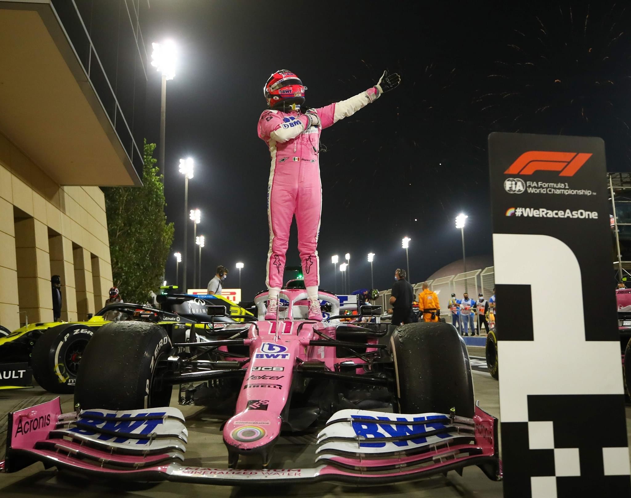 Histórico! Checo Pérez gana el Gran Premio de Sakhir de Fórmula 1