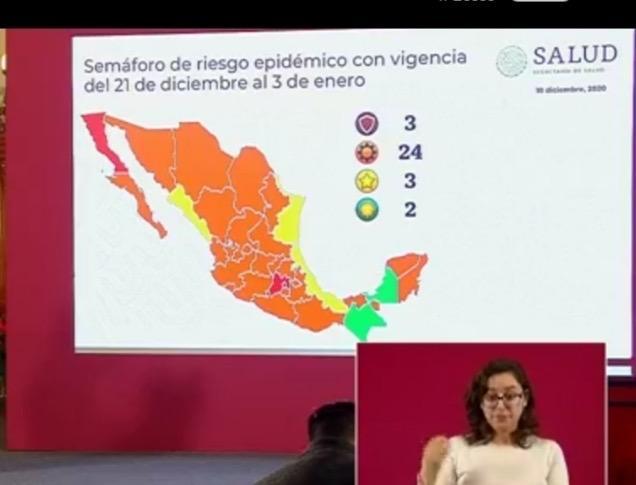 Regresó Veracruz al amarillo en Covid.