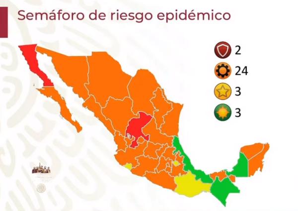 Veracruz, tercer estado en verde en semáforo nacional de Covid-19