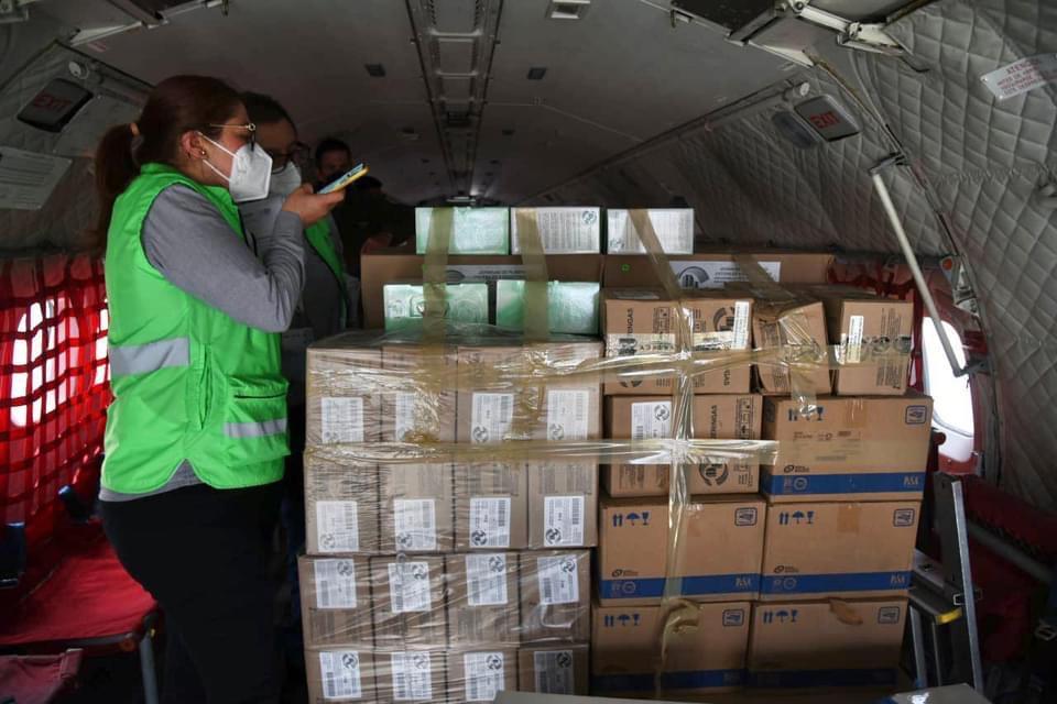 Este martes llegaron las vacunas contra el Covid en Veracruz.