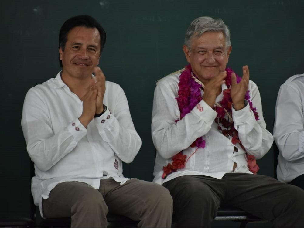 El presidente López Obrador y el gobernador Cuitláhuac García, con buena aprobación entre los veracruzanos