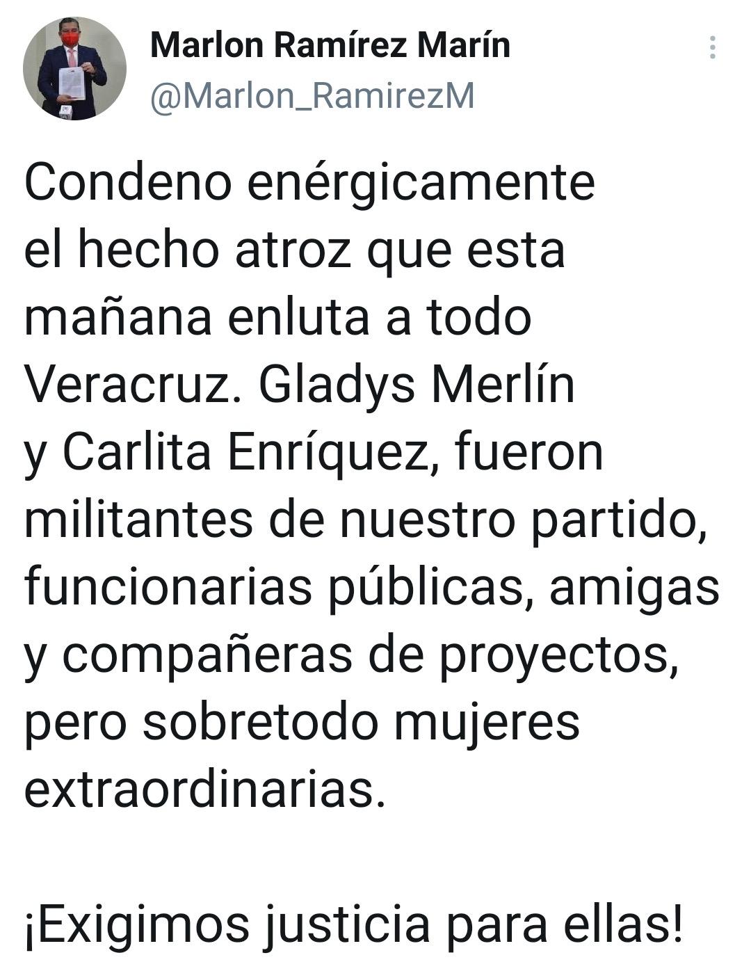 Dirigentes de PRI, PAN y PRD condenan crimen de Gladys Merlín y su hija