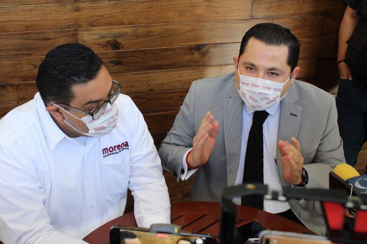 Representantes de Morena ante el OPLE e INE desconocen a Vicencio y descalifican marcha en CDMX