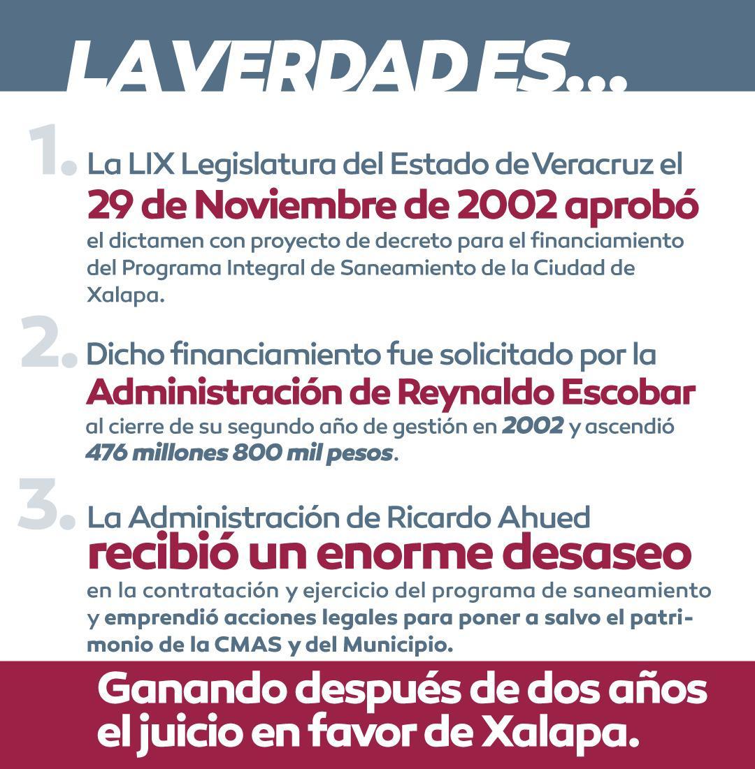 Deuda de CMAS en Xalapa data desde 2002