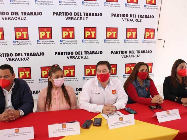 Respalda PT a Ahued para alcaldía de Xalapa