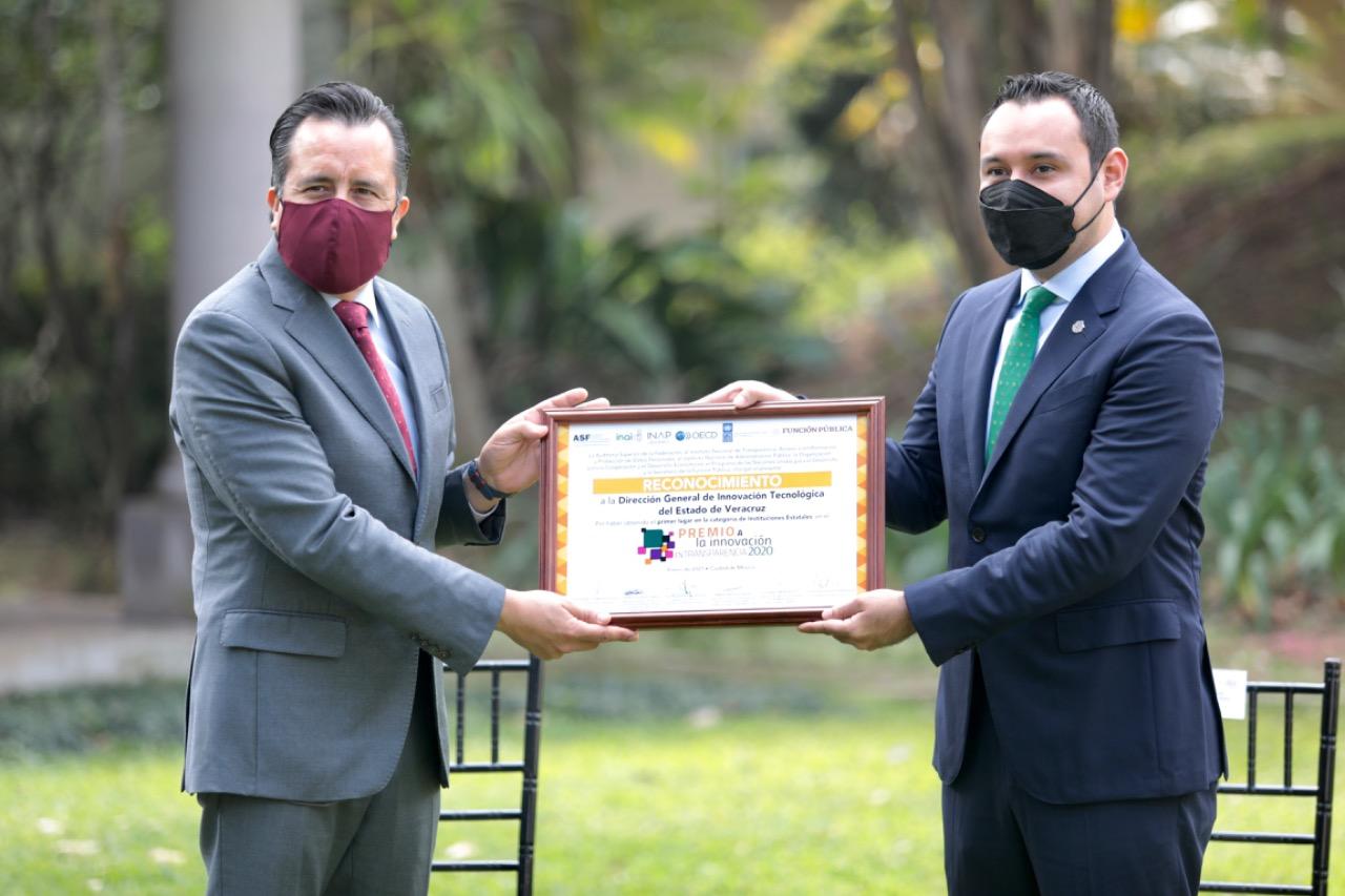 Reconoce INAI a Gobierno de Veracruz con el primer lugar en Premio a la Innovación en Transparencia 2020