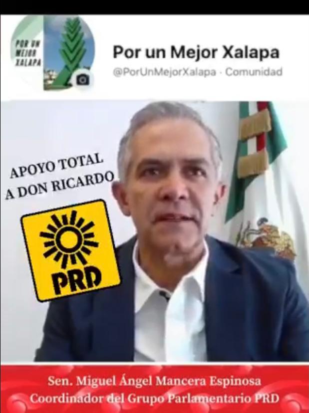 Bancada perredista en el Senado apoya a Ricardo Ahued