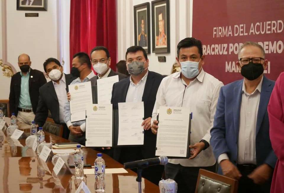 Asociaciones religiosas con presencia en el estado suscribieron el acuerdo Veracruz por la Democracia 2021