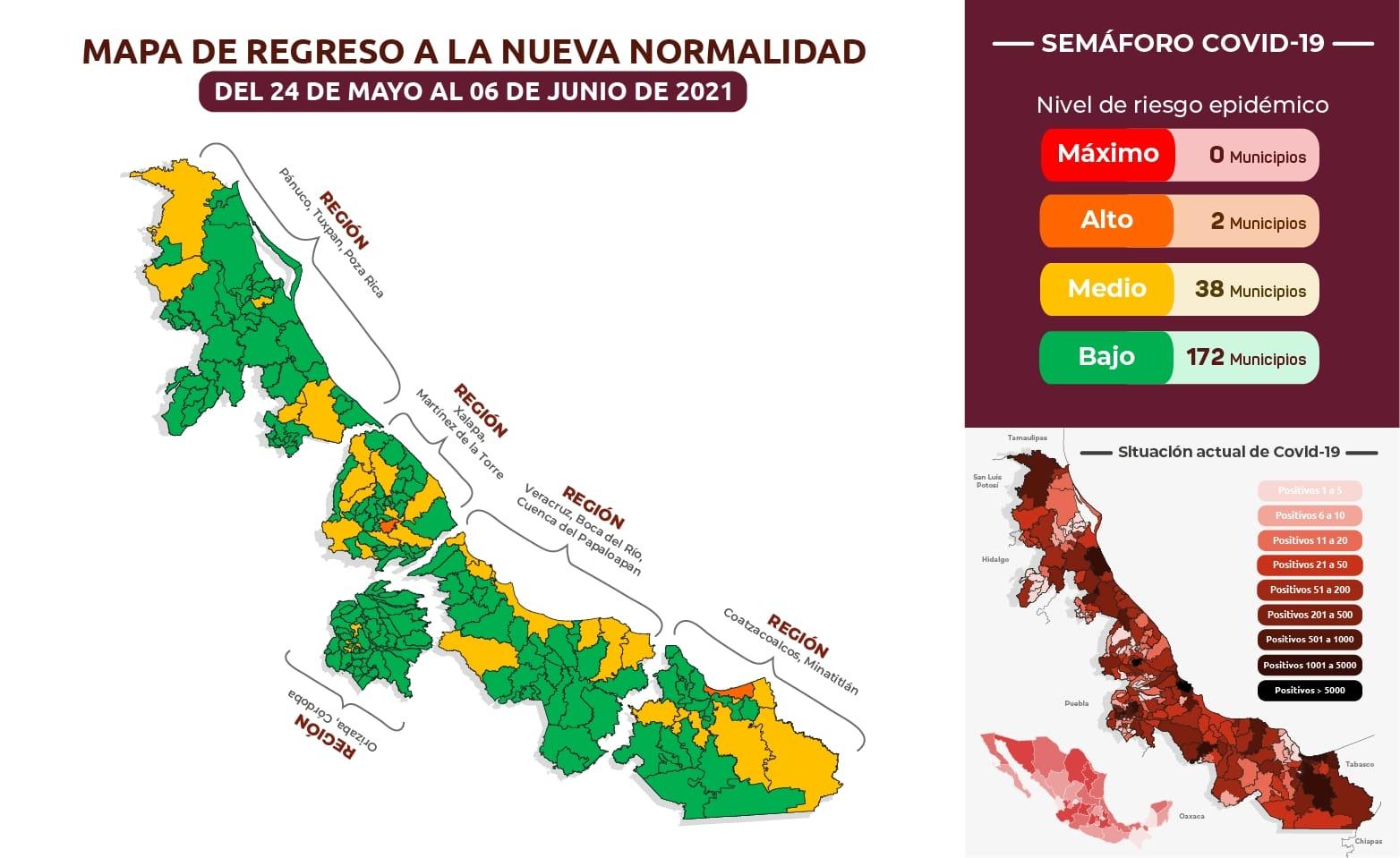 Xalapa y Coatzacoalcos regresan a naranja, masivos principal factor de contagio de Covid: SS