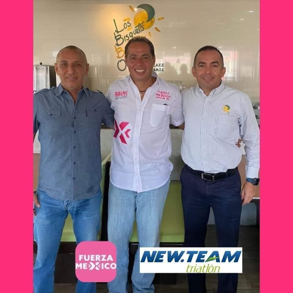 Candidato de Fuerza Por México Toño Morales se reúne con representantes del equipo de triatlón New Team