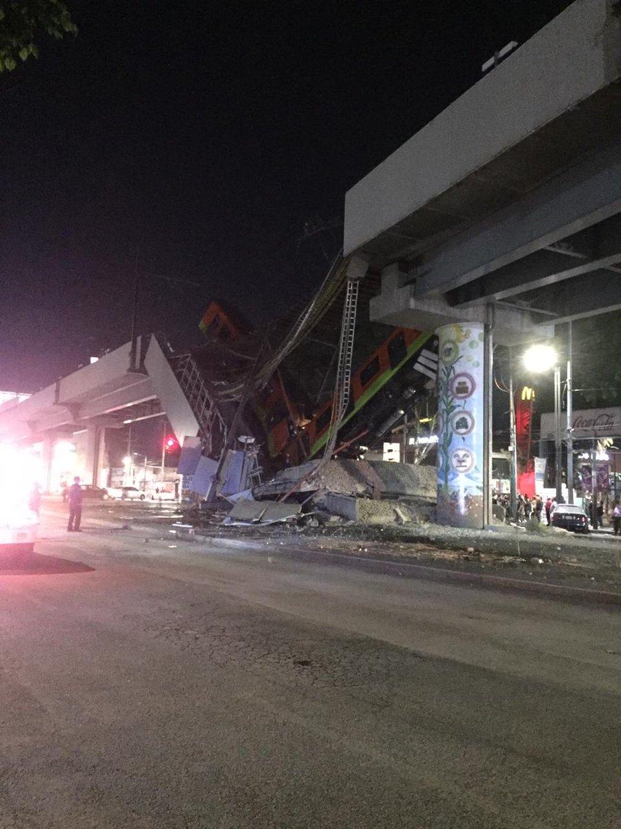 Colapsa estructura en la Linea 12 del Metro en la CdMx (Videos)