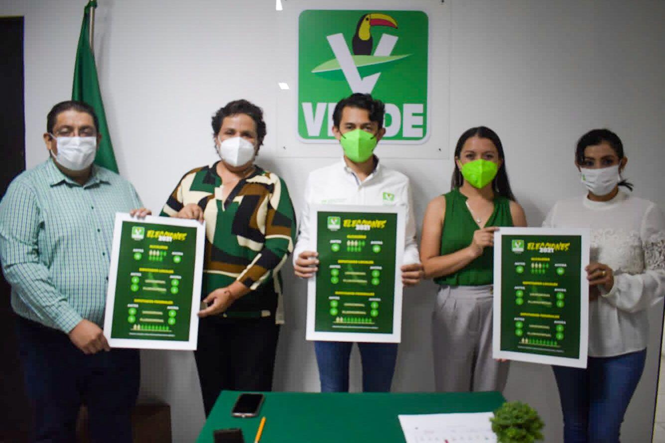 Gana Verde 31 alcaldías, tres diputaciones locales y tres federales