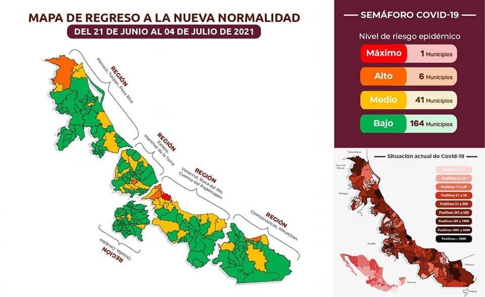 Ciudad de Veracruz regresa a rojo por COVID.