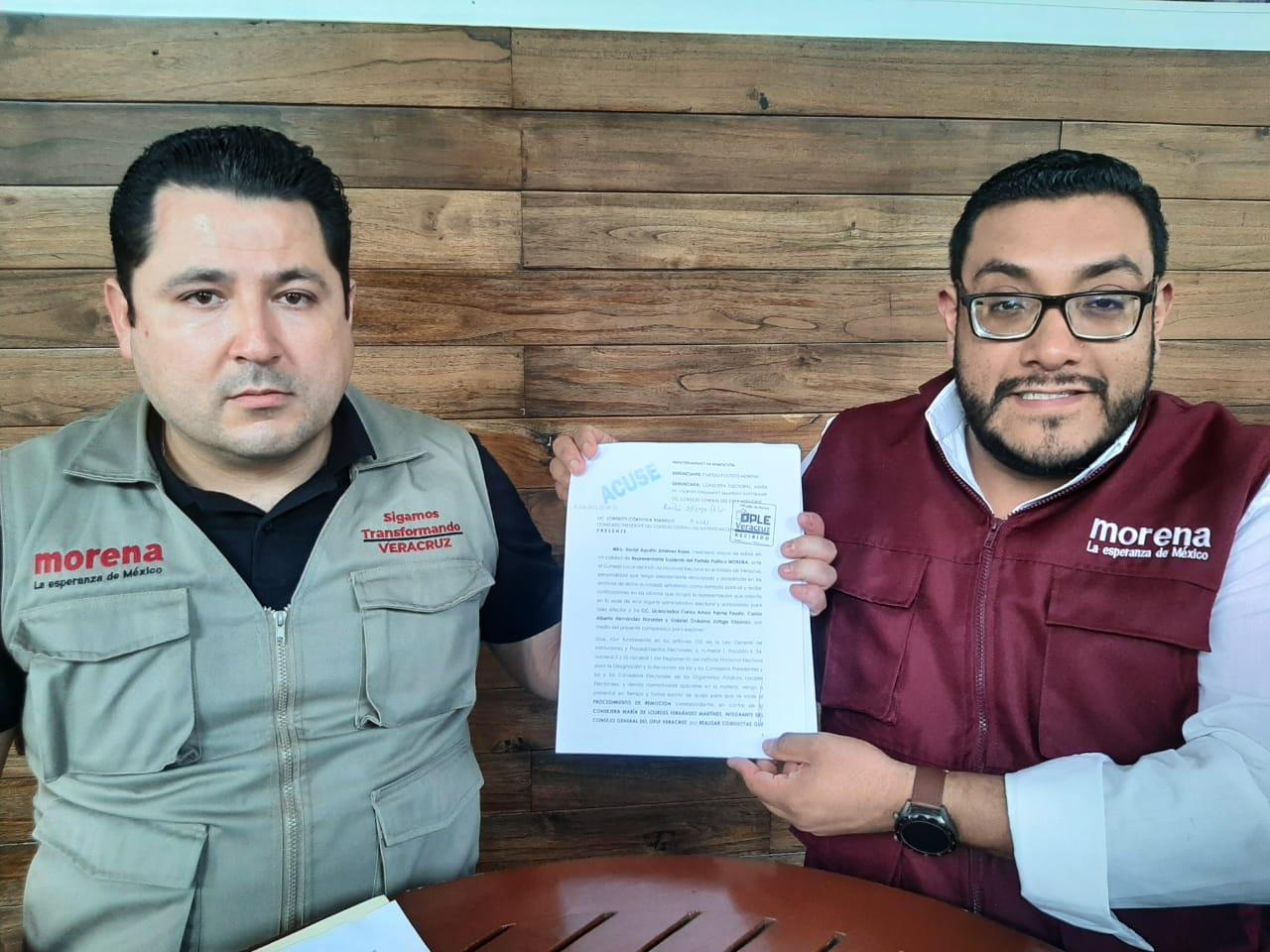Morena afirma que consejero de Veracruz sirve a intereses de los Yunes
