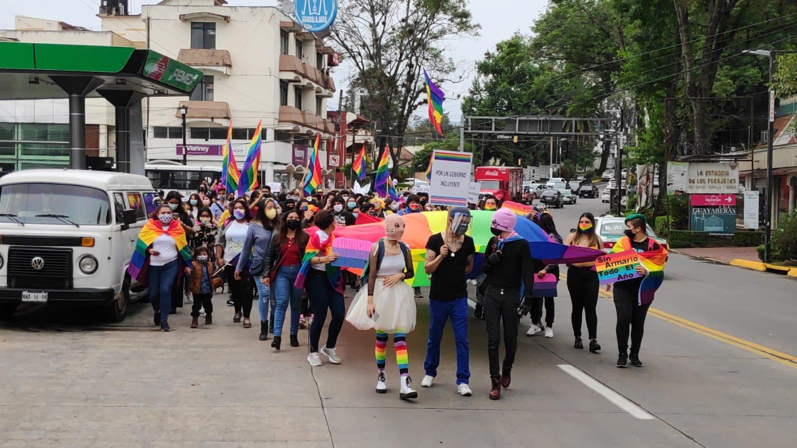"Con marcha ""LenchoMaricaTrans"", exigen avances legislativos para comunidad LGBTTTIQ"