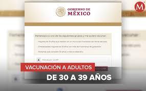 Inicia registro de vacunación contra el Covid para personas de 30 a 39 años.