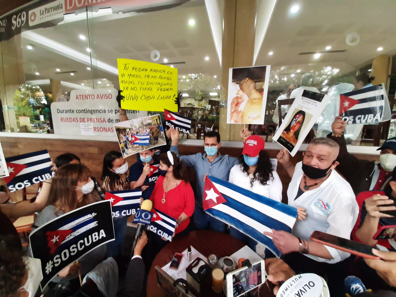 Pese a situación en Cuba, cubanos radicados en Xalapa, festejan levantamiento contra Díaz-Canel