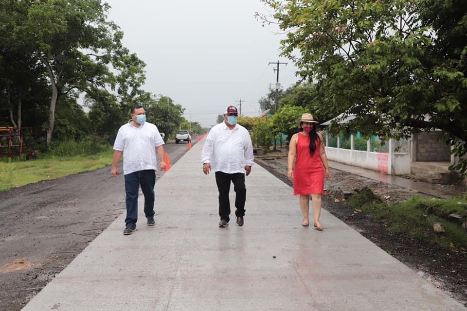 Supervisó Eric Cisneros obra de beneficio social en Chacaltianguis