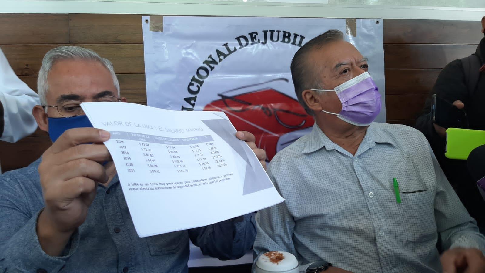 Coalición de pensionados del advierten que UMA podría aplicarse a jubilados y pensionados del Estado