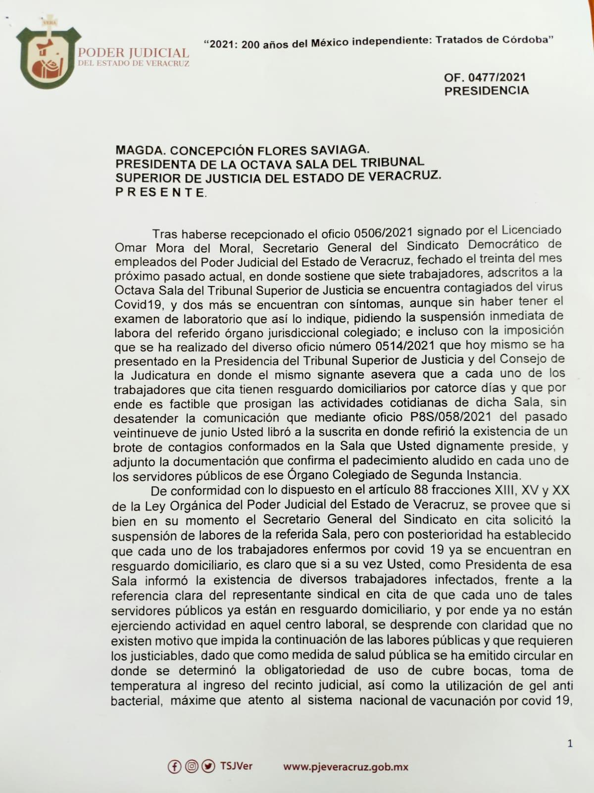 Brote de contagios de Covid-19 en Octava Sala del TSJ; Isabel Romero se niega a suspender actividades