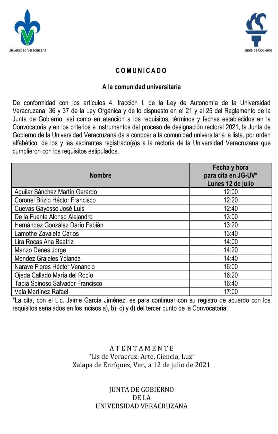Quedan 13 aspirantes a la rectoría de la UV, eliminan al consejero del INE, José Roberto Ruiz Saldaña