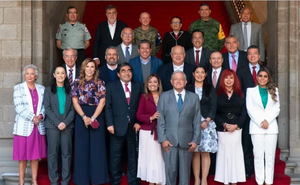 AMLO pide a gobernadores elector y en funciones de Morena acciones ante inseguridad