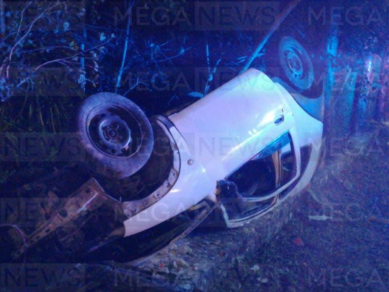 Varios lesionados dejó un accidente en la carretera a El Tintal